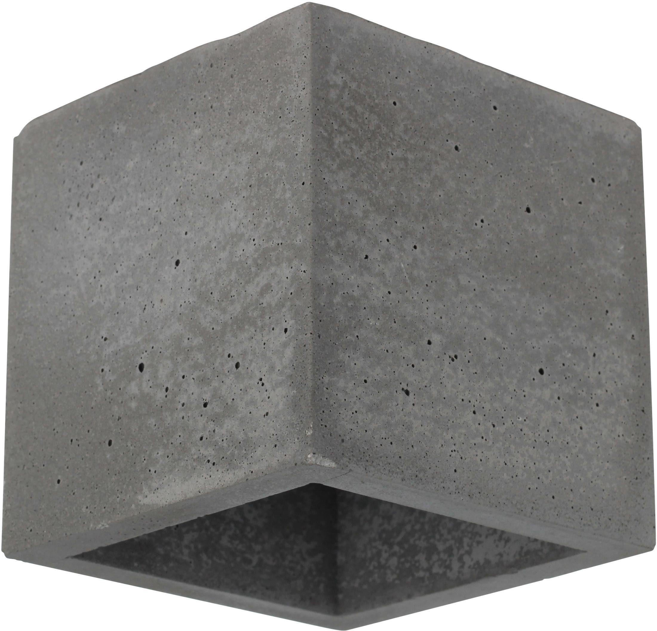 SPOT Light Wandleuchte BLOCK, G9, Naturprodukt aus echtem Beton, Handgefertigt, Made in EU