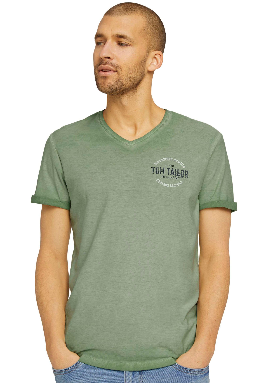 tom tailor -  T-Shirt, mit Logoprint auf der Brust
