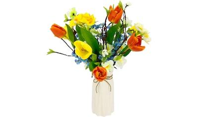 I.GE.A. Kunstblume »Arrangement Tulpen/Blüten«, Vase aus Keramik kaufen