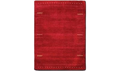 Dekowe Wollteppich »Hiska«, rechteckig, 12 mm Höhe, reine Wolle, Kurzflor, handgeknüpft, Wohnzimmer kaufen