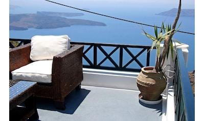 Papermoon Fototapete »Santorini Inselblick«, Vliestapete, hochwertiger Digitaldruck kaufen