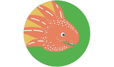 Komar Fototapete »Little Dino Proto«, bedruckt-Comic-Retro-mehrfarbig, BxH: 128x128... kaufen