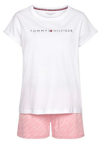 Tommy Hilfiger Shorty, mit Logodruck an T-Shirt und Elastikbund kaufen