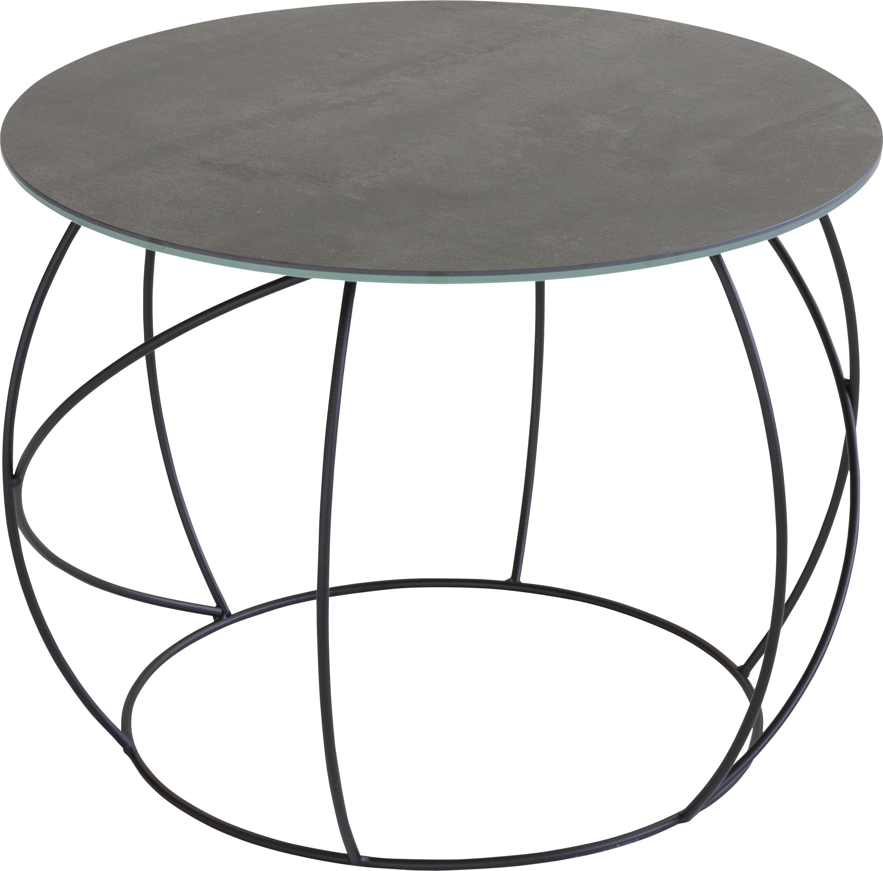 Henke Möbel Beistelltisch, Tischplatte aus hochwertiger Keramik schwarz Beistelltische Tische Beistelltisch