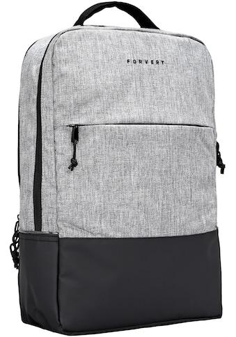 forvert Schulrucksack »Lance, grey melange« kaufen