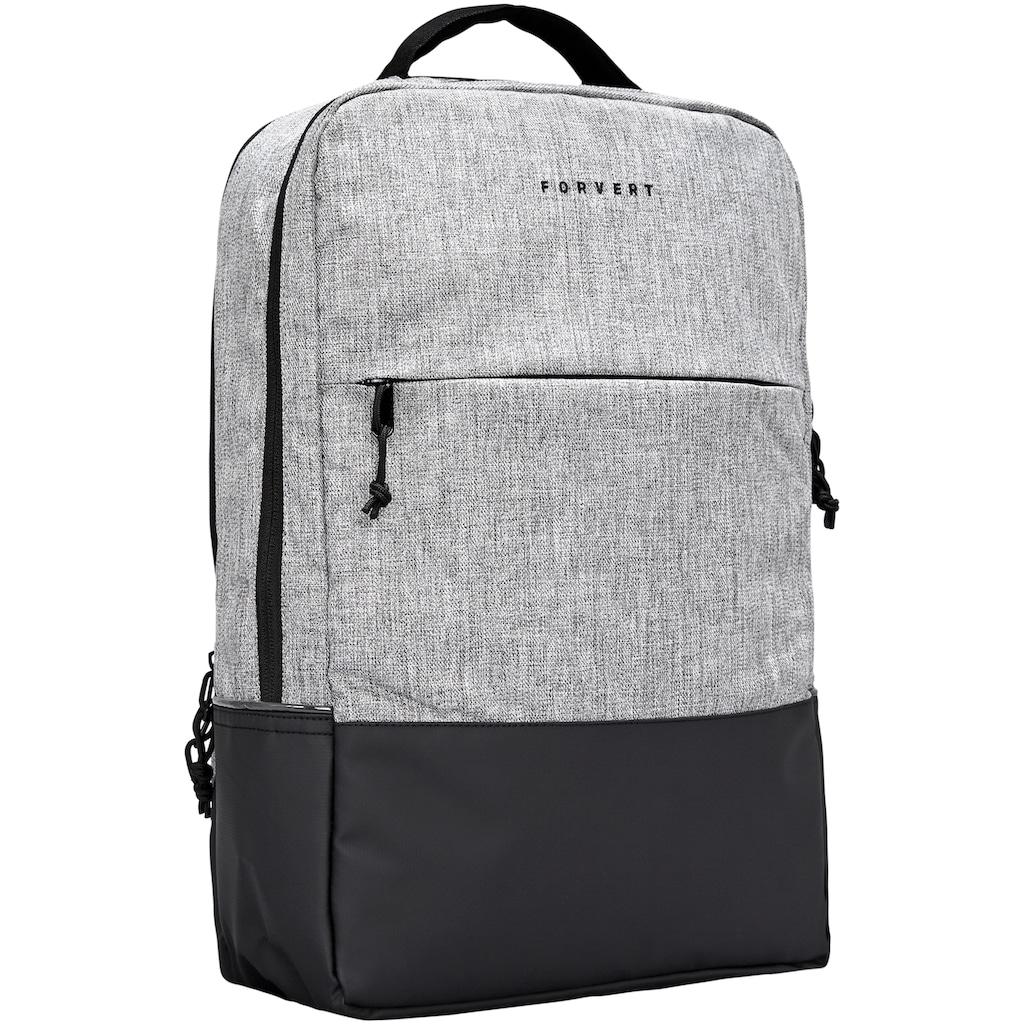 forvert Laptoprucksack »Lance, grey melange«