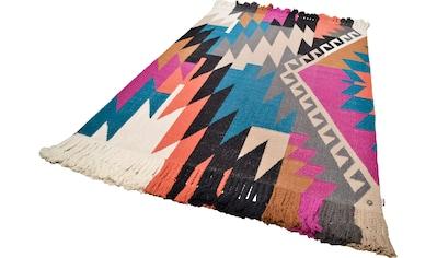 Teppich, »Funky Kelim«, TOM TAILOR, rechteckig, Höhe 6 mm, handgewebt kaufen
