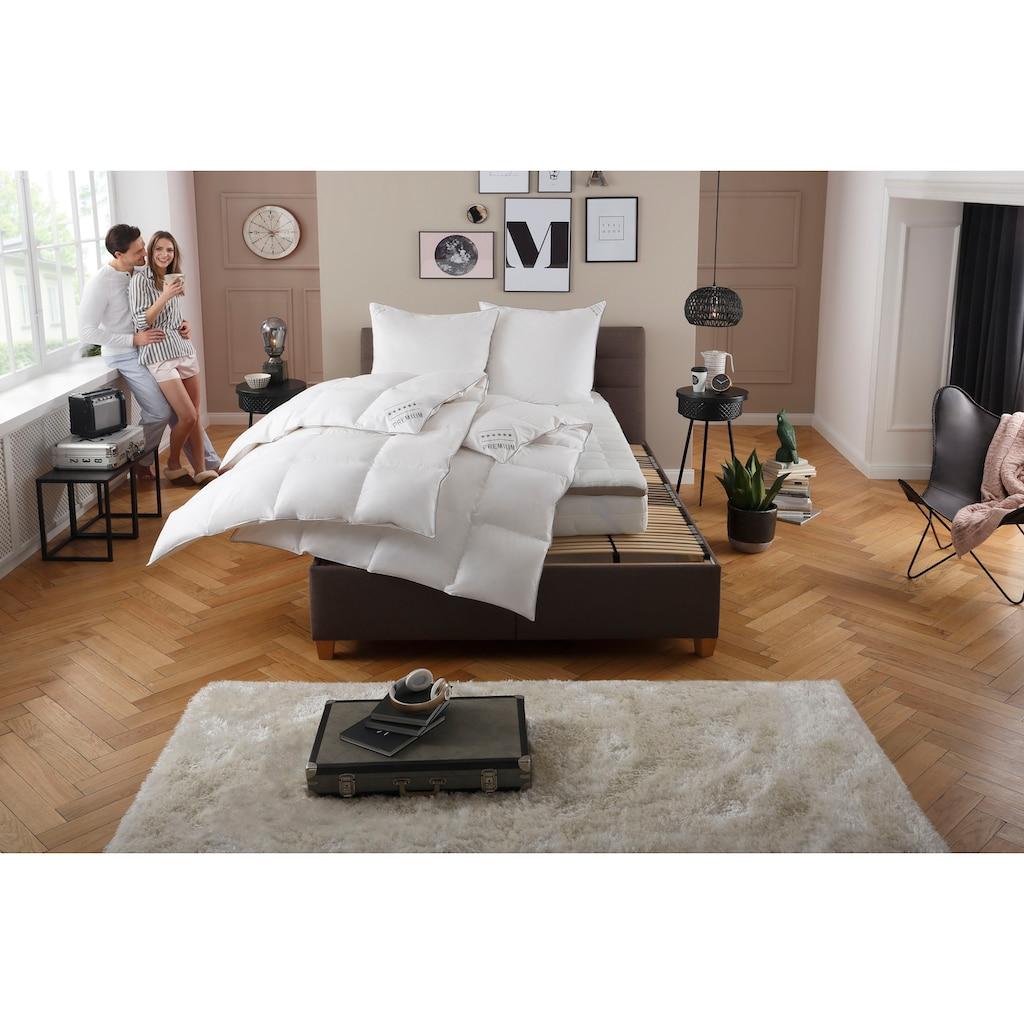 my home Gänsedaunenbettdecke + Kopfkissen »Tim«, (Spar-Set), extra weiches Gewebe und weiche Füllung