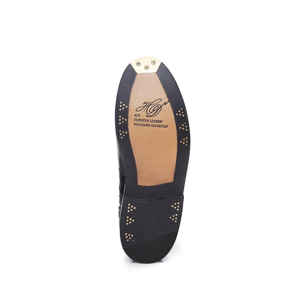 Heinrich Dinkelacker Schnürschuh »Rio Full-Brogue BC«, Wahre Schuhmacherkunst aus Budapest
