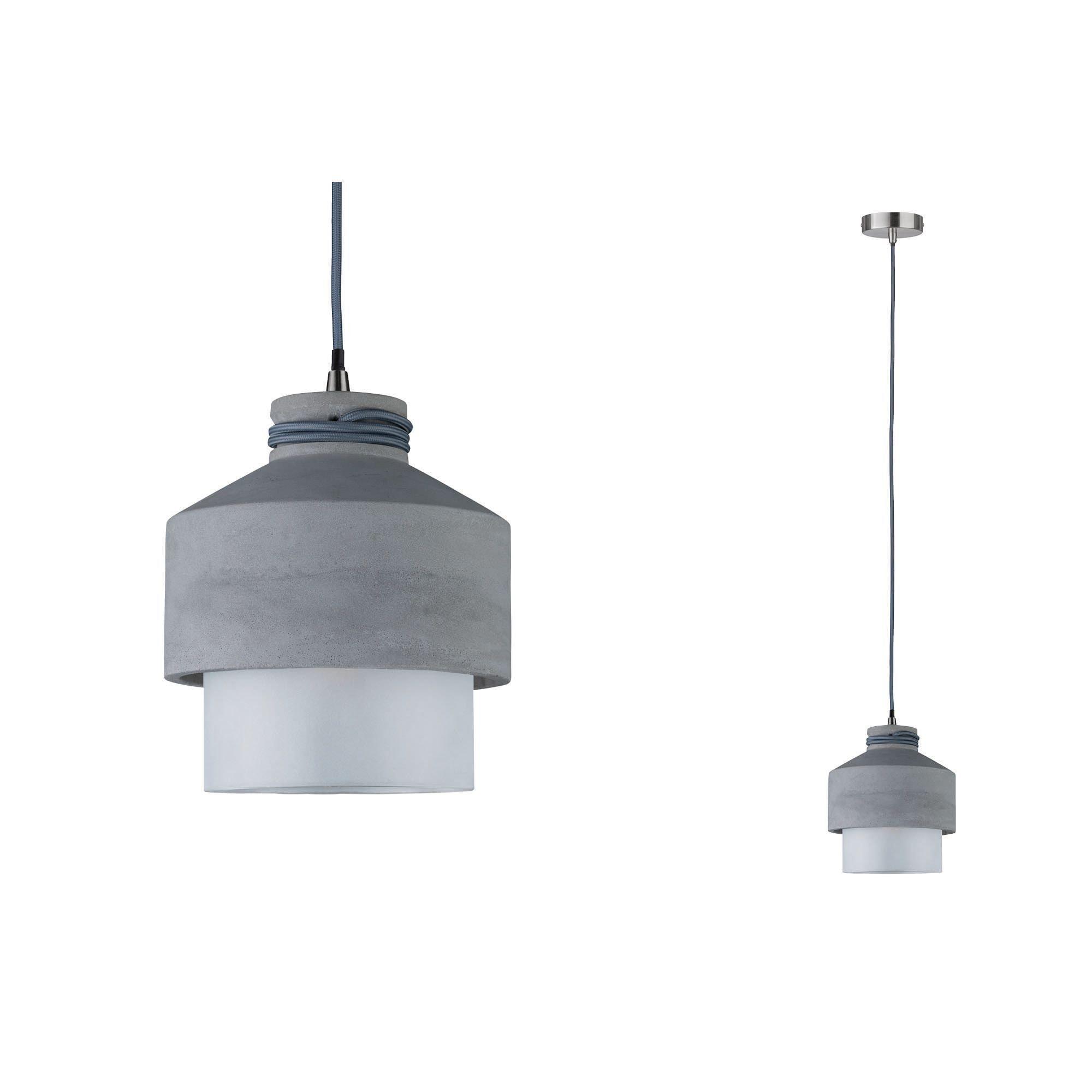 Paulmann LED Pendelleuchte Neordic Helin Glas/Beton, E27, 1 St.