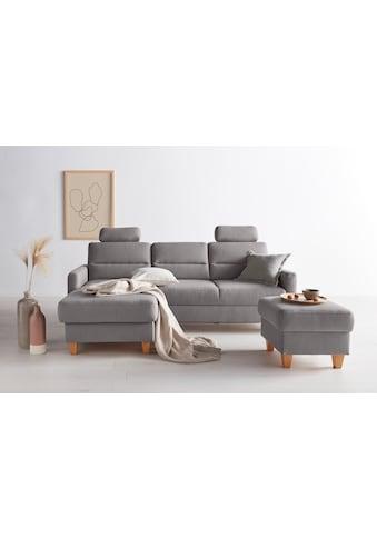 OTTO products Ecksofa »Adella«, Stoffe aus recyceltem Polyester, Federkern, wahlweise mit Bett und Bettkasten kaufen
