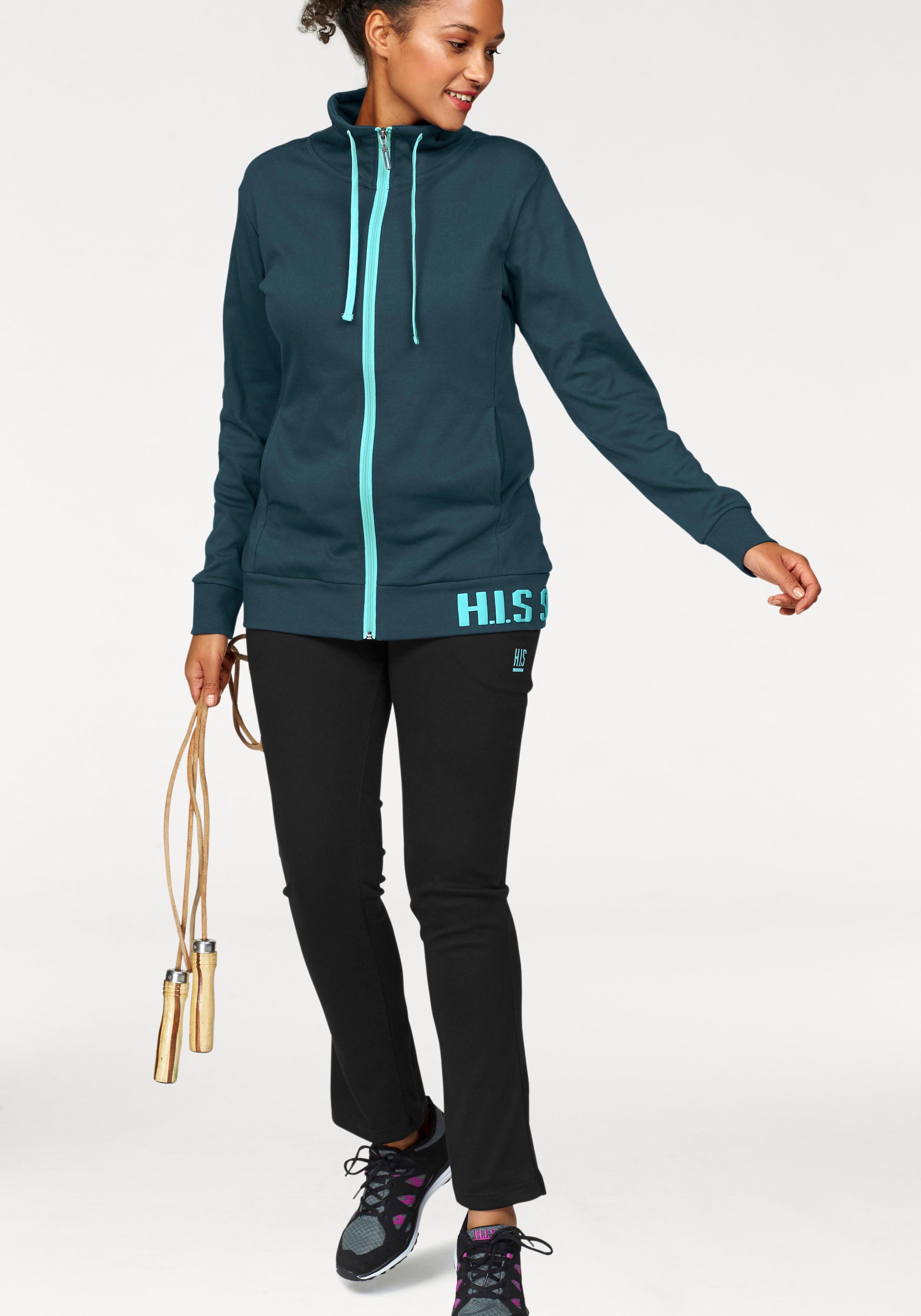 HIS Jogginganzug (Set 2 tlg) | Sportbekleidung > Sportanzüge > Jogginganzüge | Grün | H.I.S