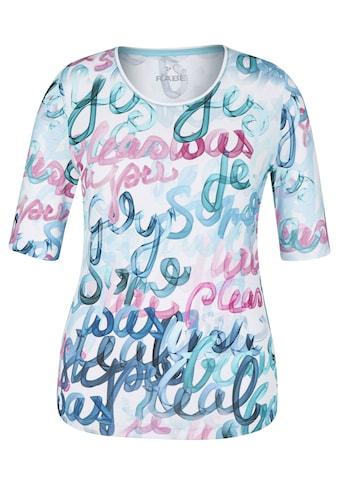 Rabe T - Shirt mit Allover - Print und Multicolor kaufen