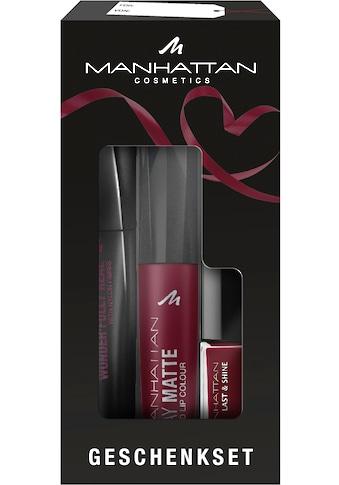 """MANHATTAN Make - up Set """"Burgundy Red"""", 3 - tlg. kaufen"""