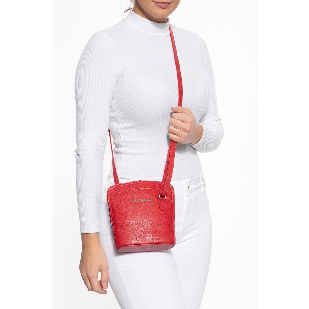 ATT Jeans Umhängetasche, mit verstellbarem Schulterriemen, Hochwertiges Echt Leder