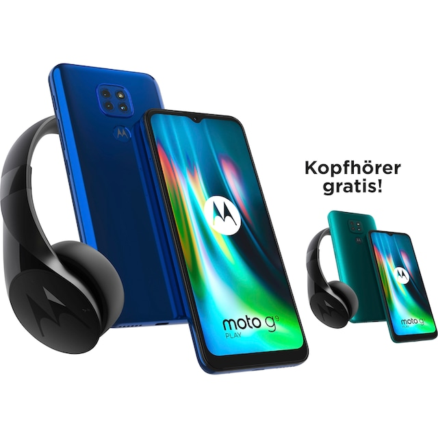 Motorola moto g9 play Smartphone (17,27 cm / 6,5 Zoll, 64 GB, 48 MP Kamera)