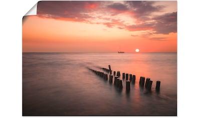 Artland Wandbild »Sonnenuntergang am Meer I«, Sonnenaufgang & -untergang, (1 St.), in... kaufen