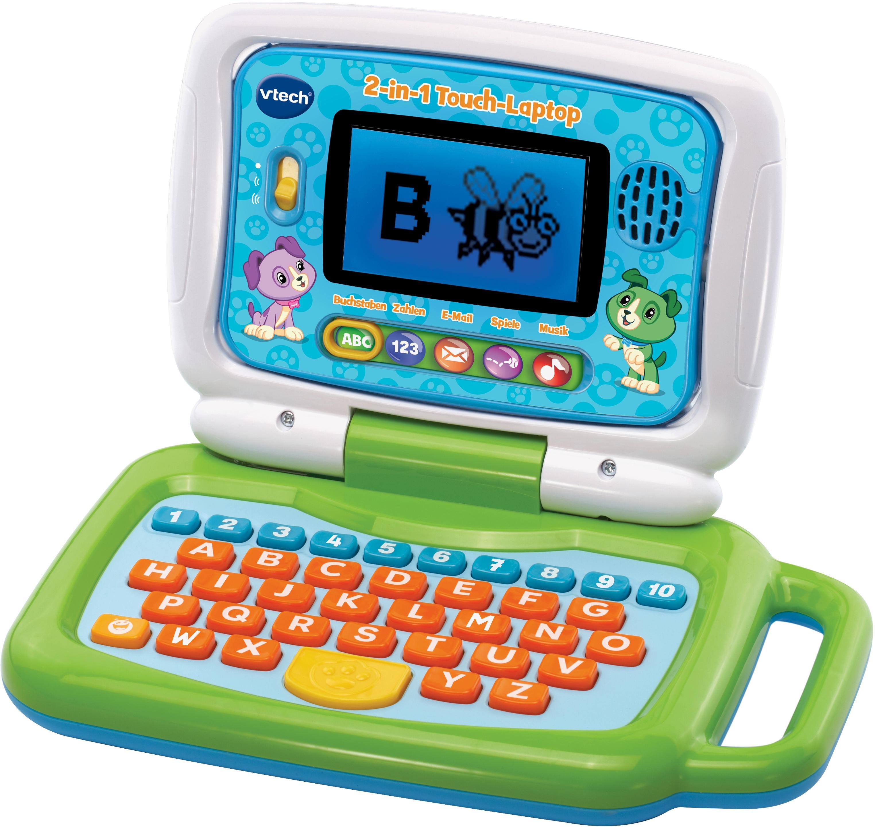 Vtech Kindercomputer 2-in-1 Touch-Laptop bunt Kinder Kinder-Computer Lernspielzeug