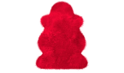 Fellteppich, »Lammfell farbig«, Heitmann Felle, fellförmig, Höhe 70 mm, gegerbt kaufen