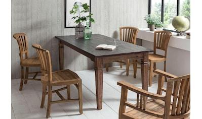 SIT Esstisch »Seadrift«, recyceltes Teak-Altholz, Shabby Chic, Vintage kaufen