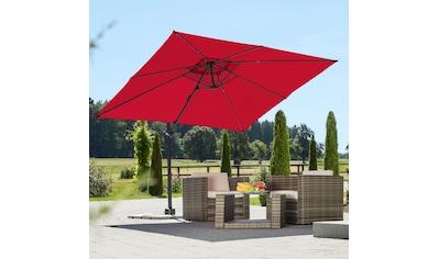 Schneider Schirme Ampelschirm »Rhodos Junior«, rot, quadratisch, ohne Wegeplatten kaufen