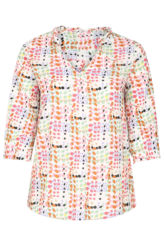 Paprika Druckbluse Bluse mit Tupfenaufdruck
