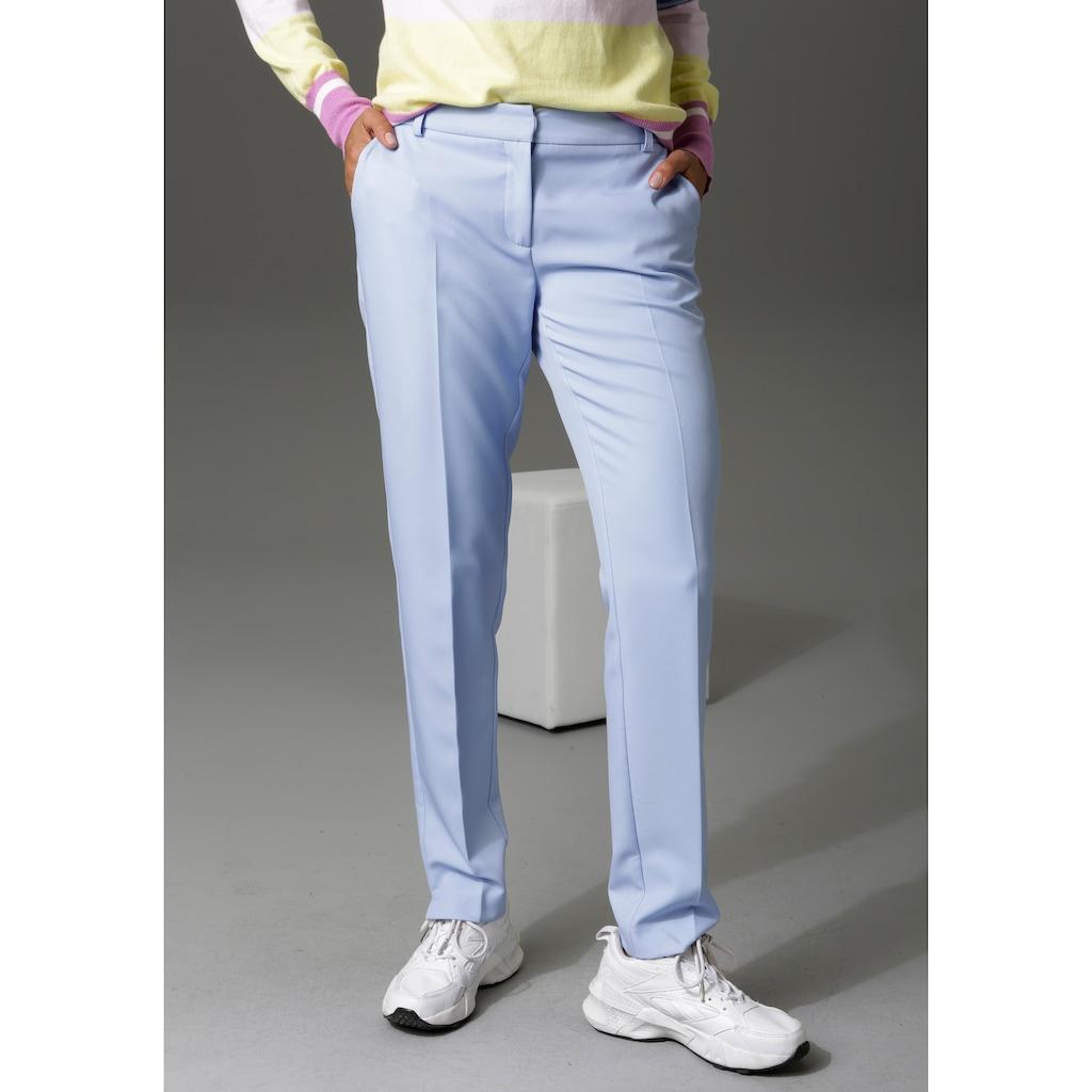 Aniston CASUAL Anzughose, mit kleinen Schlitzen am Beinabschluss - NEUE KOLLEKTION