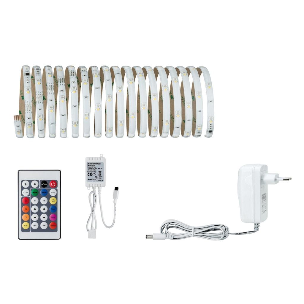 Paulmann LED-Streifen »Digital Farbwechsel dimmbar bunt+weiß Set 4,8m 18,8W«, 1 St.-flammig