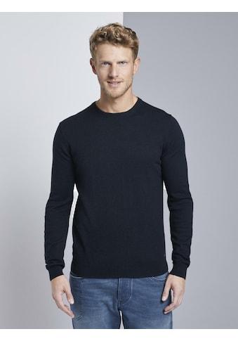 TOM TAILOR Strickpullover »Sweater mit Kaschmir - Anteil« kaufen