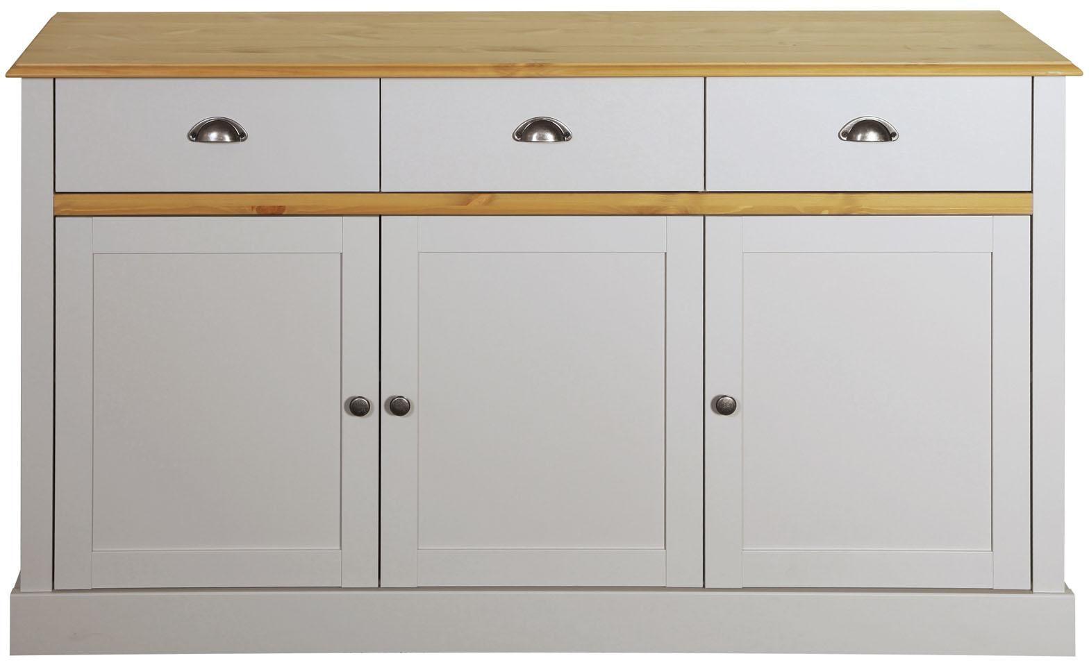 Home affaire Sideboard Sandringham mit 3 Türen und 3 Schubladen Breite 144 cm