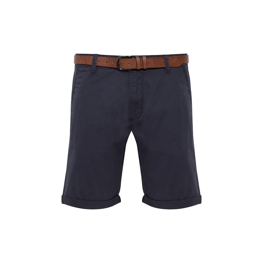 Indicode Chinoshorts »Tenefa«, Chino Shorts mit Gürtel