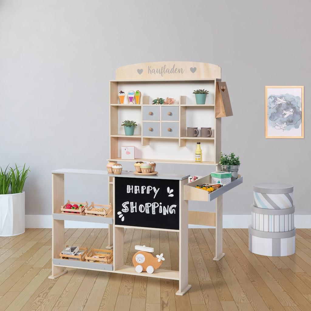 Sun Kaufladen »Natur, weiß/grau«, mit Kreidetafel