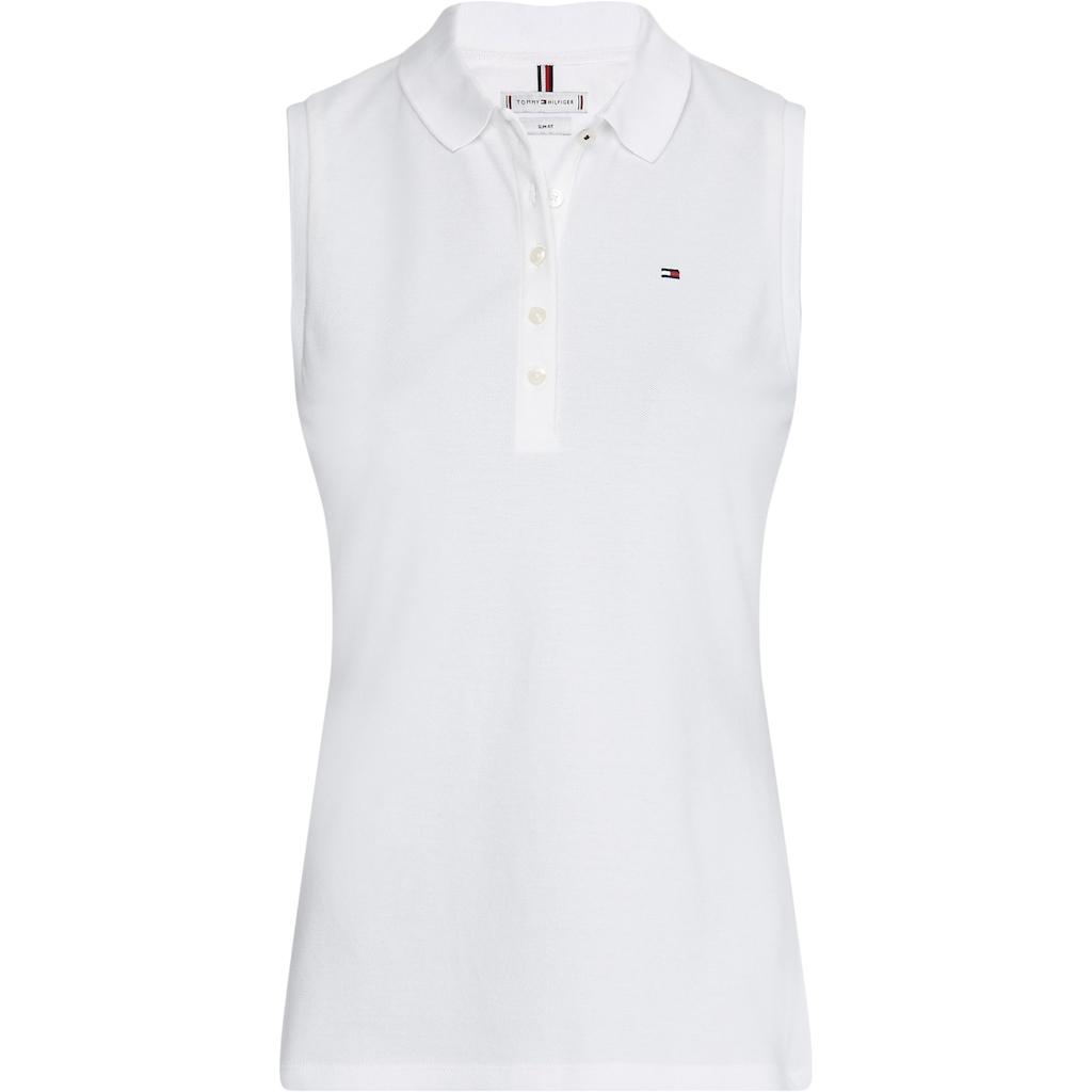 Tommy Hilfiger Poloshirt »Slim Polo No Sleeve«, mit Tommy Hilfiger Logo-Falg auf der Brust