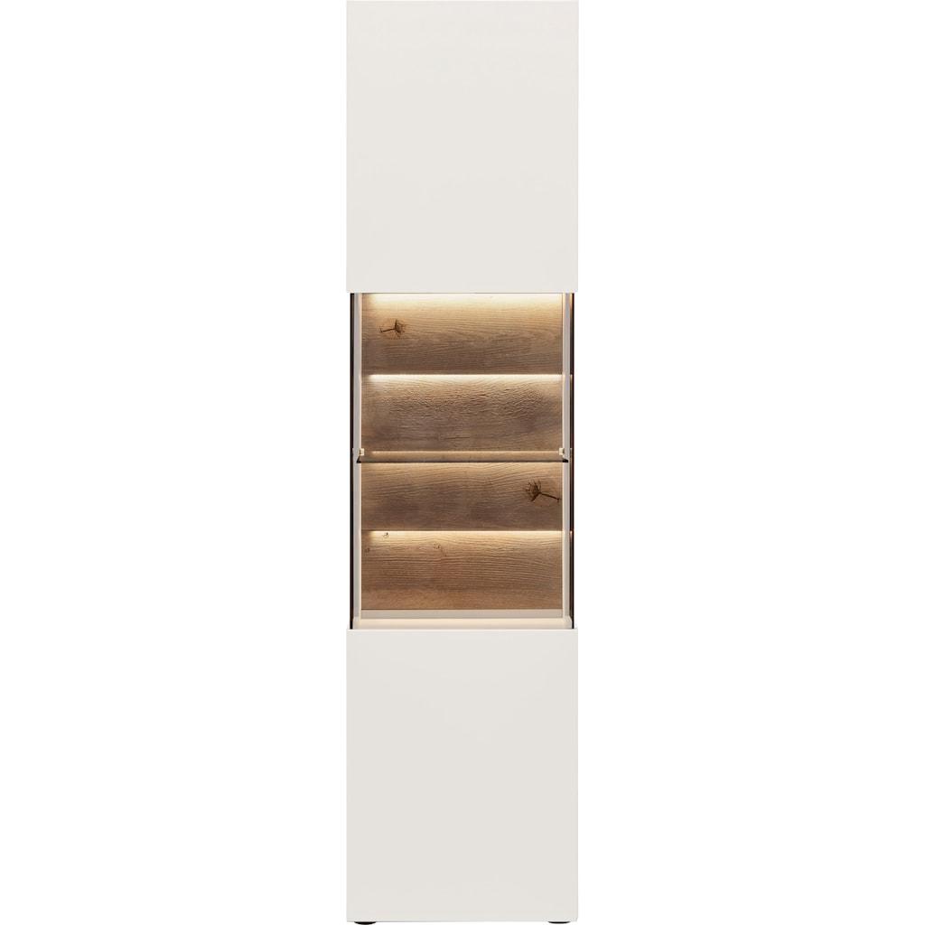 GWINNER Vitrine »Misano Z11«, in Lack weiß Höhe 196,8 cm, wahlweise mit Beleuchtung