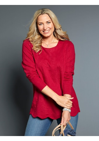 MIAMODA Sweatshirt aus strukturiertem Jerseyjacquard kaufen