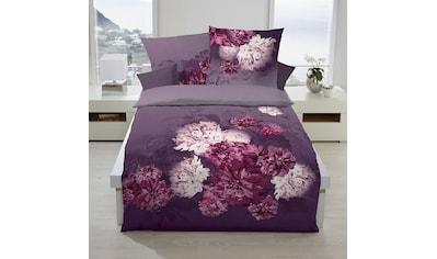 TRAUMSCHLAF Bettwäsche »Flamenco violett«, Biberbettwäsche mit opulentem Blumendruck kaufen