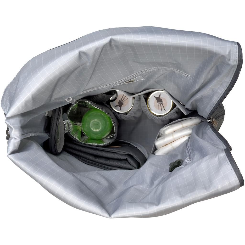 LÄSSIG Wickelrucksack »Green Label, Rolltop, anthracite«, PETA-approved vegan; zum Teil aus recycelten Material
