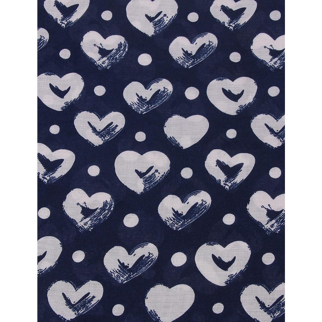 leslii Schal »Herz-Muster«, mit zauberhaftem Herz-Muster