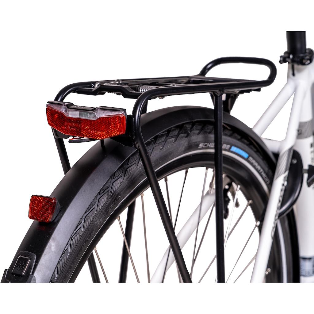 Chrisson E-Bike »E-ACTOURUS Herren«, 10 Gang, Shimano, Deore RD-T6000-SGS, Mittelmotor 250 W