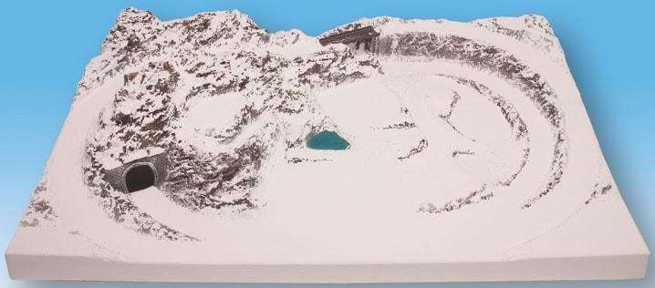 NOCH Modelleisenbahn-Fertiggelände Garmisch, Made in Germany weiß Kinder Schienen Zubehör Modelleisenbahnen Autos, Eisenbahn Modellbau