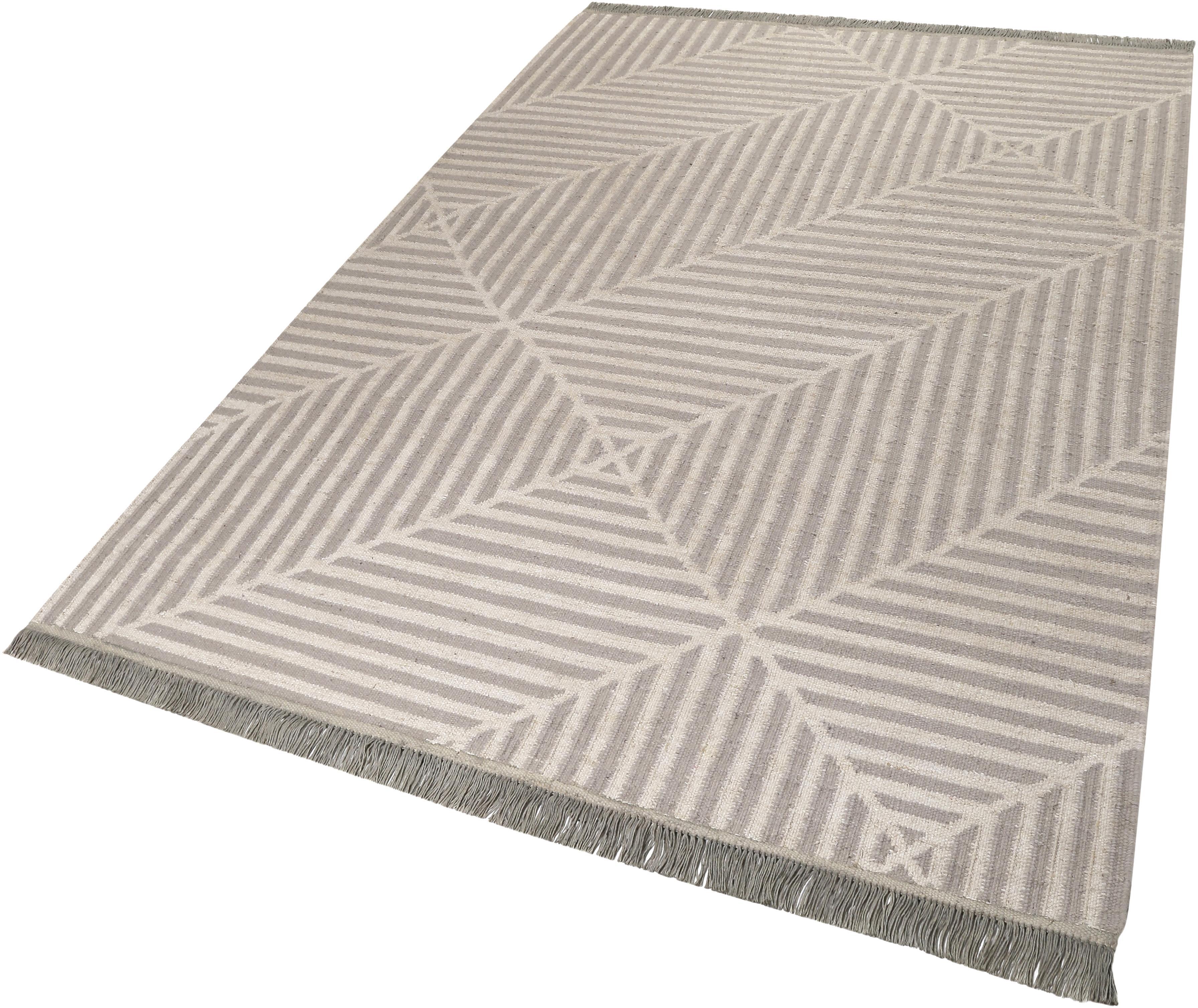 Teppich Irregular Fields carpets&co rechteckig Höhe 5 mm handgewebt