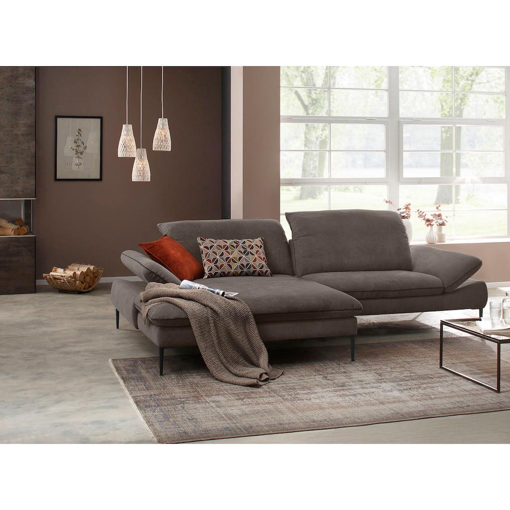 W.SCHILLIG Ecksofa »enjoy&MORE«, mit Sitztiefenverstellung, Füße schwarz pulverbeschichtet, Breite 294 cm