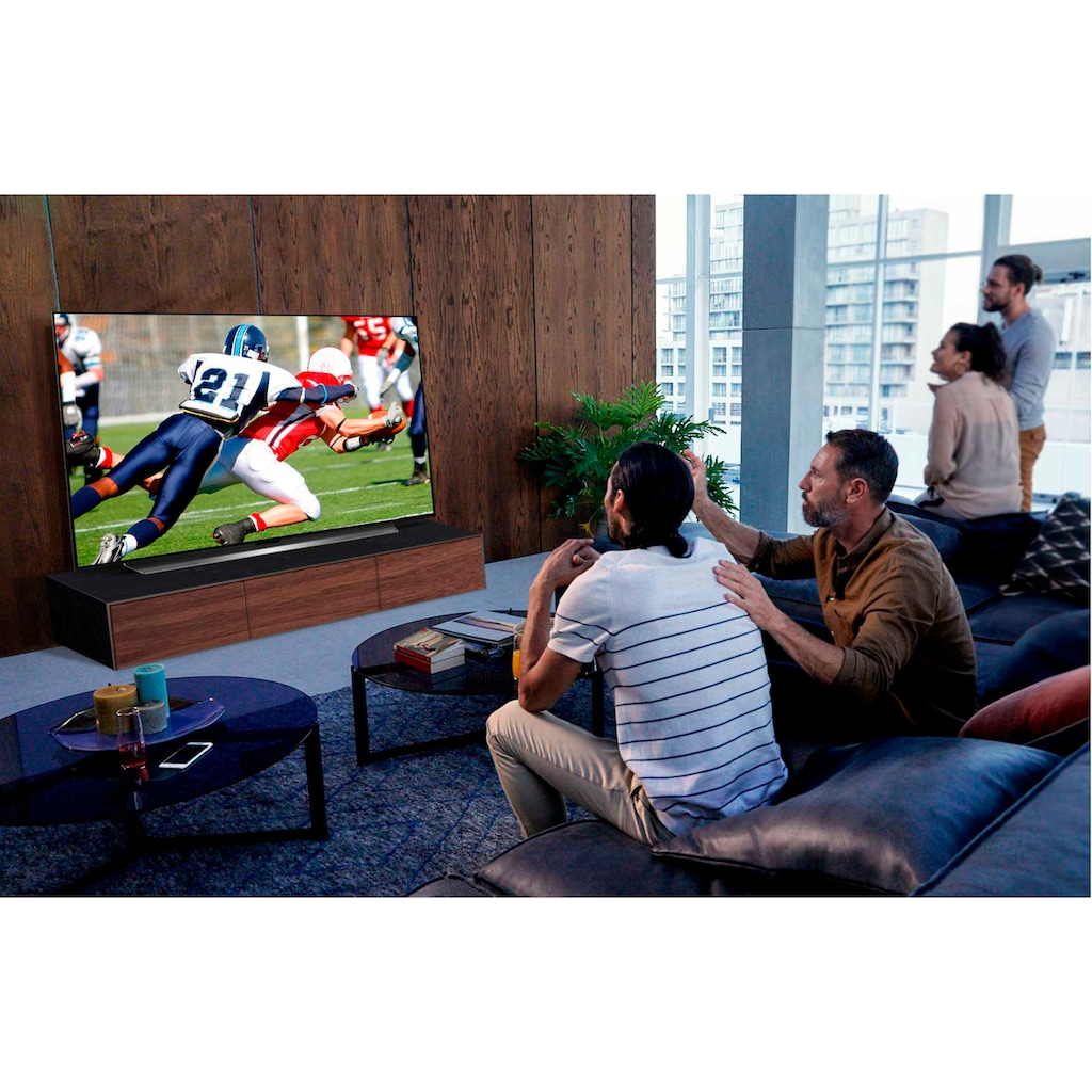 "LG OLED-Fernseher »OLED65CX9LA«, 164 cm/65 "", 4K Ultra HD, Smart-TV, FN6 Kopfhörer und Bluetooth-Speaker PL2 gratis (Wert UVP 248€)"