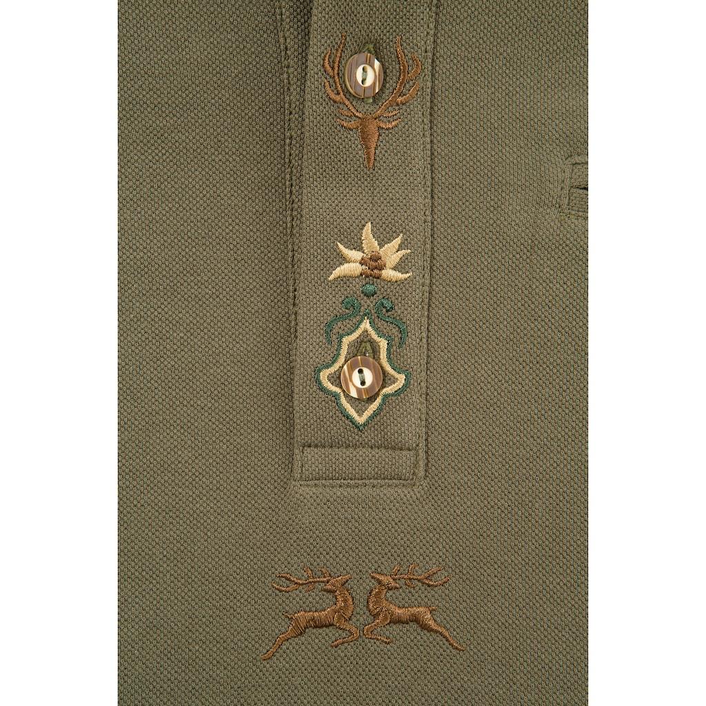 OS-Trachten Trachtenshirt, mit Paspeltasche