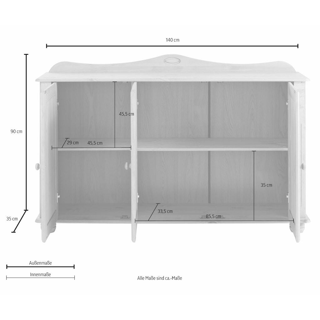 Home affaire Sideboard »Adele«, 3-türig, Breite 140 cm