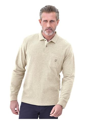 Hajo Langarm - Poloshirt aus Waffelpikee kaufen