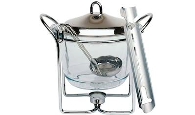 APS Bowle-Set, (Feuerzangenbowle mit Zuckerhutablage), Edelstahl/Glas, Inhalt 4 Liter kaufen