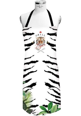 APELT Grillschürze »3976 Outdoor, GRILL Tiger«, (1 tlg.), Digitaldruck kaufen