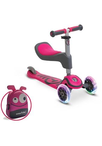 smarTrike® Dreiradscooter »T1, pink«, Montierbarer Sitz mit Schaumgummipolster und... kaufen