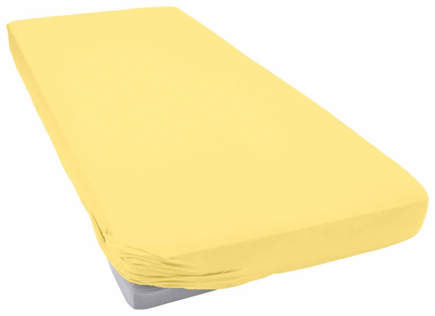 Spannbettlaken »Teddy Flausch«, Primera | Bekleidung > Bademode > Bademäntel | Gelb | Flausch - Biber - Baumwolle - Polyester | PRIMERA FIRST SLEEPWARE